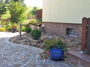 Außenputzarbeiten WDVS, Neugestaltung Außenanlagen